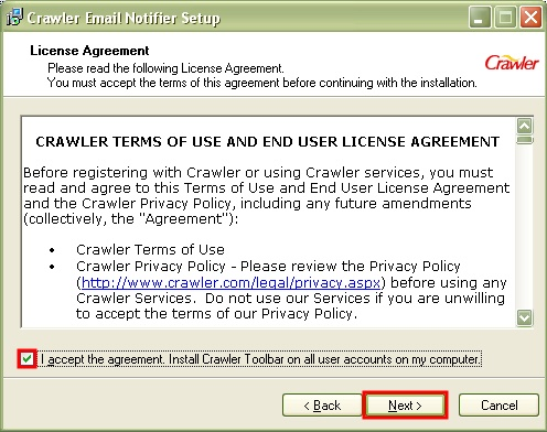 Crawler.com Registration Step 7